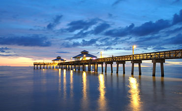 Naples Pier & Beaches - Photo of sunset