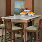 high top table with chairs